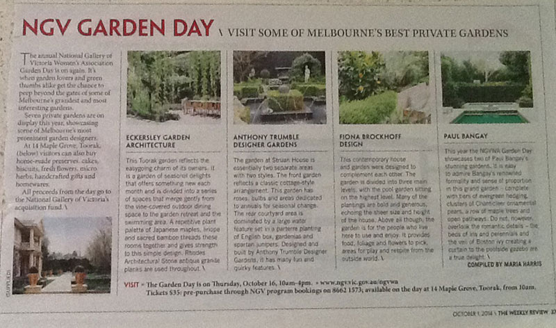 The Melbourne Review featuring Anthony Trumble of Designer Gardens